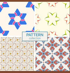 set of four seamless patterns vector image