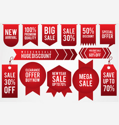 set price tag discount vector image