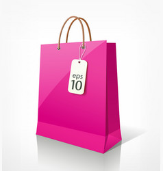 Shopping bag pink vector