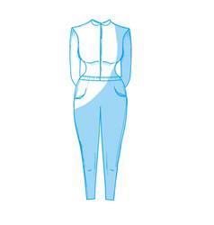 Silhouette nice woman wear style design vector
