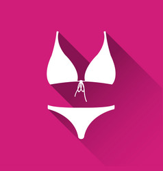 simple female swimsuit icon bikini symbol vector image