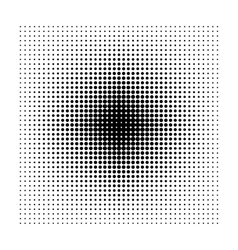 Square halftone geometric shapes Dot abstract vector image