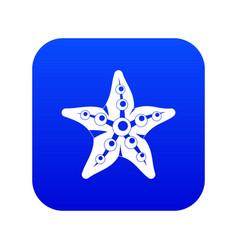 starfish icon digital blue vector image