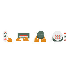 Sushi and rolls a set creative vector