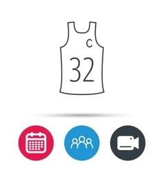 Team captain icon Basketball shirt sign vector image