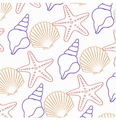 the seamless star-star pattern and shell vector image