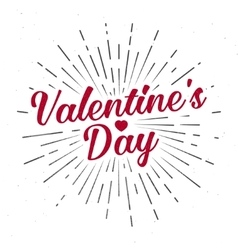 Valentine s Day text and lettering vector
