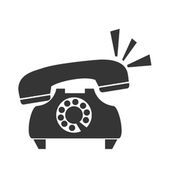 Vintage telephone call icon graphic vector