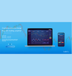 Web site screen template forex market vector