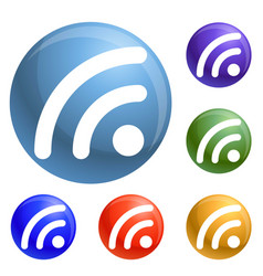 wifi signal icons set vector image