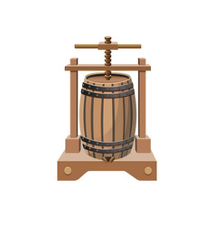 Wine press vector