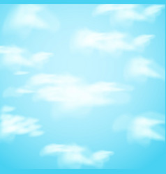 with realistic clouds on sky vector image