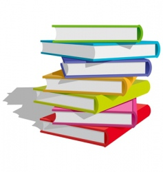 books stack vector image