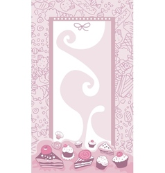 Cakes Background vector image vector image