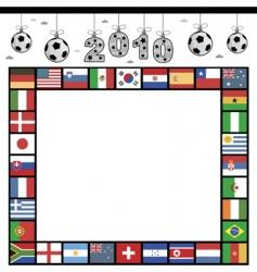 football flag frame vector image vector image
