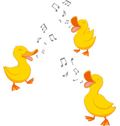 happy duck singing vector image vector image