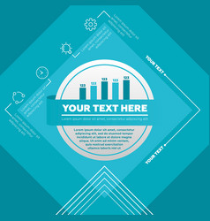 infographic template made from lines and vector image vector image