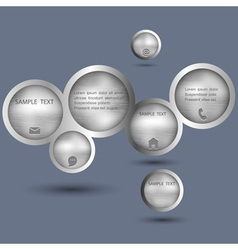 Metallic style web design bubble vector image