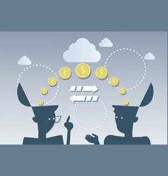 Money flow business investment movement concept vector