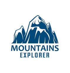 mountains expedition symbol for sport design vector image