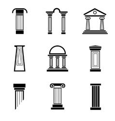 Column black icons vector image
