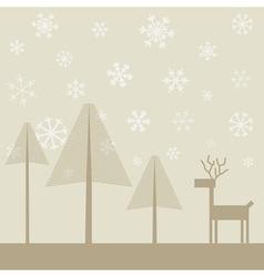 Deer in wood2 vector image