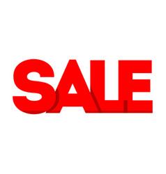 sale price tag icon sign isolated on white vector image