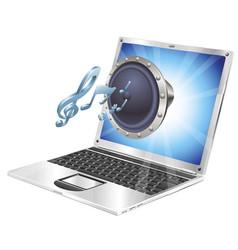 speaker icon laptop concept vector image vector image