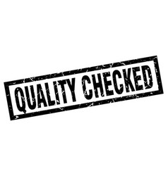 square grunge black quality checked stamp vector image vector image