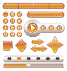 buttons and banners vector image vector image