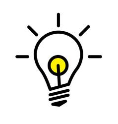 led light bulb lamp vector image