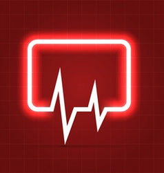Medical icon with heartbeat chart vector image