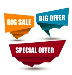 Special Offer Big offer Best Price Marks vector image