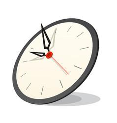 3d clock icon vector image vector image