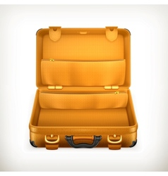 Open Suitcase vector image vector image