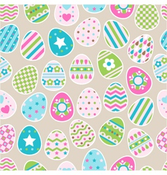 seamless pattern of color easter eggs vector image