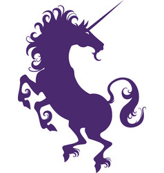 silhouette of a unicorn vector image vector image