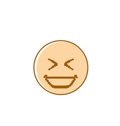 smiling cartoon face laughing positive people vector image vector image