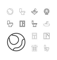 13 indoor icons vector