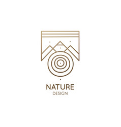 Abstract nature logo geometric elements square vector