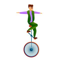 Acrobat icon cartoon style vector