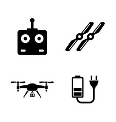 Air drone quadrocopter simple related vector