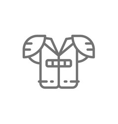 american football chest protection line icon vector image