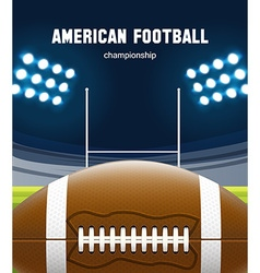American football realistic theme eps 10 vector