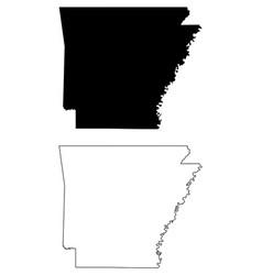 Arkansas ar state map usa vector