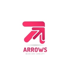 arrow icon abstract logo template vector image
