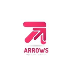 Arrow icon abstract logo template vector