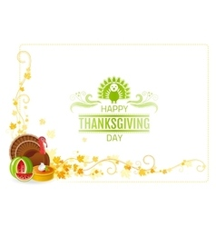 Autumn thanksgiving background with text vector image