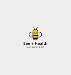Bee health icon simple logo design vector