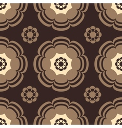 Beige and Brown Flowers vector image